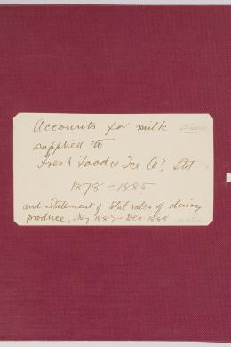 photograph of Volume 101 Item 06: William and James Macarthur dairy accounts, 1878-1888
